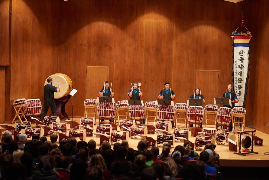 UW-L Korean Percussion Ensembles create the sounds of Korea
