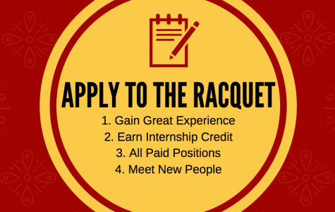 The Racquet is Hiring for Fall 2017