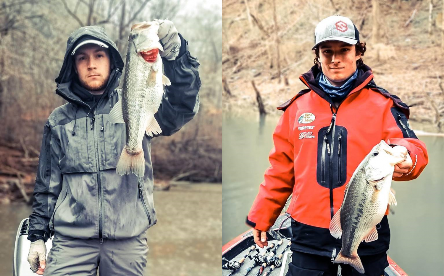 Colby Wolff (Left) and Gage Griffin (Right) Photo via https://www.facebook.com/UWLFishing/