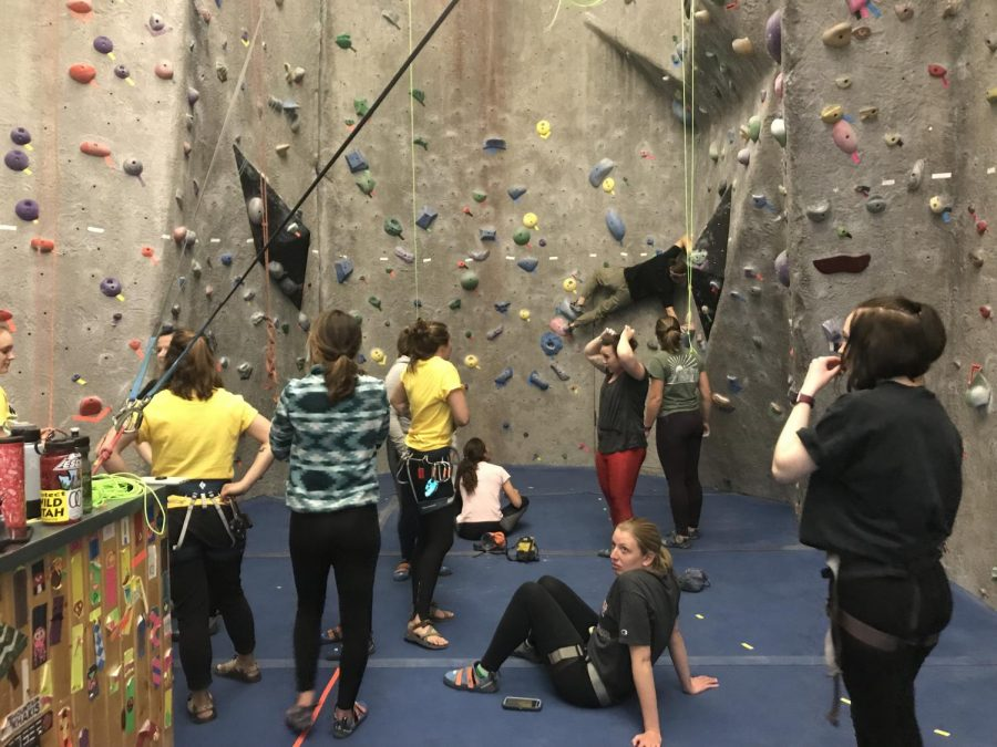 Women on the Wall climbers. Photo by Kayleigh Marshall.