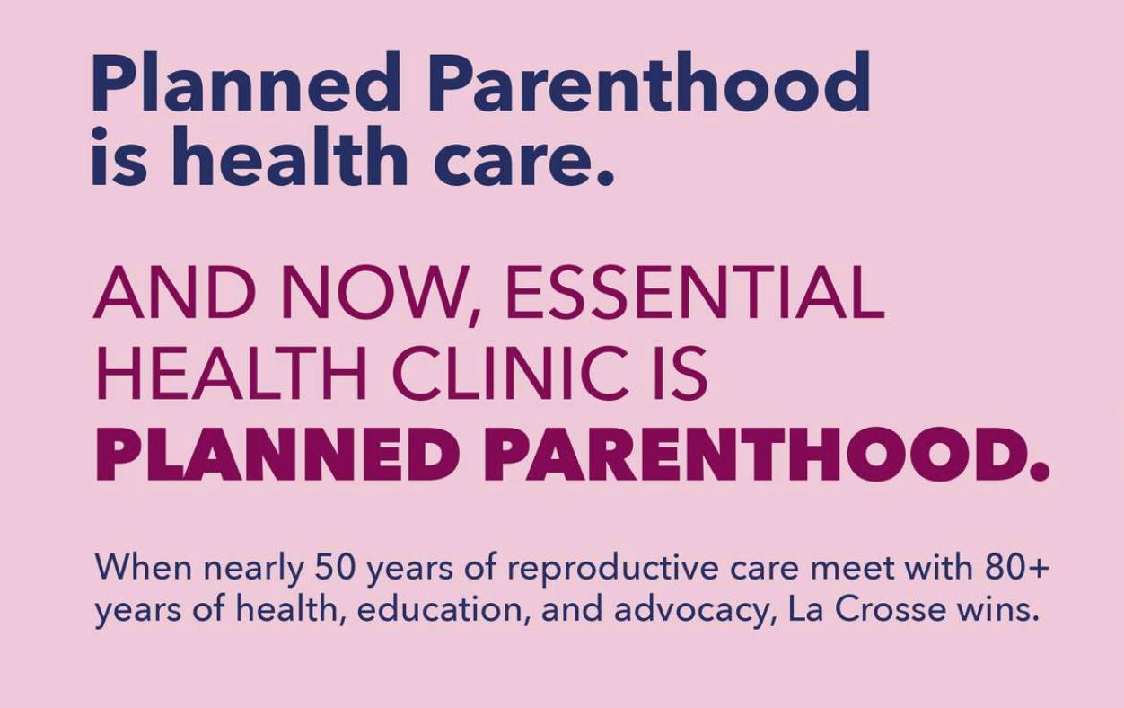 Retrieved from La Crosse Planned Parenthood website