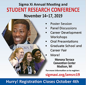 Sigma Xi https://www.sigmaxi.org/meetings-events/annual-meeting-and-student-research-conference/student-research-conference