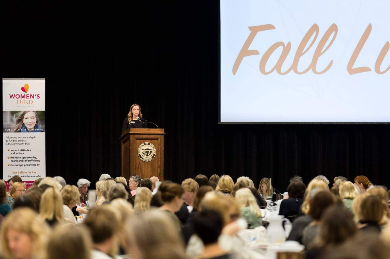 Photo taken during the Women's Fund Fall Luncheon event at UWL. Retrieved from Kaycie Green