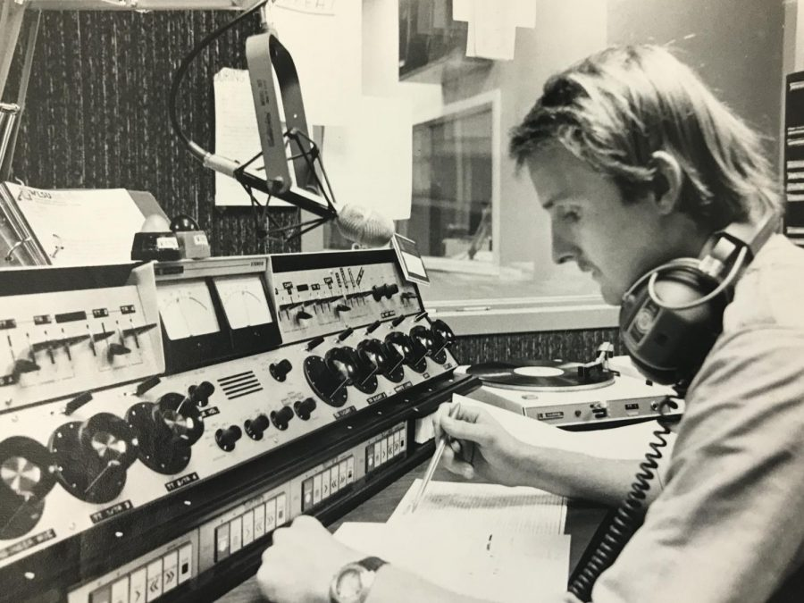 UWL+student+broadcasting+on+WLSU+in+1980.+Retrieved+from+UWL+archives.