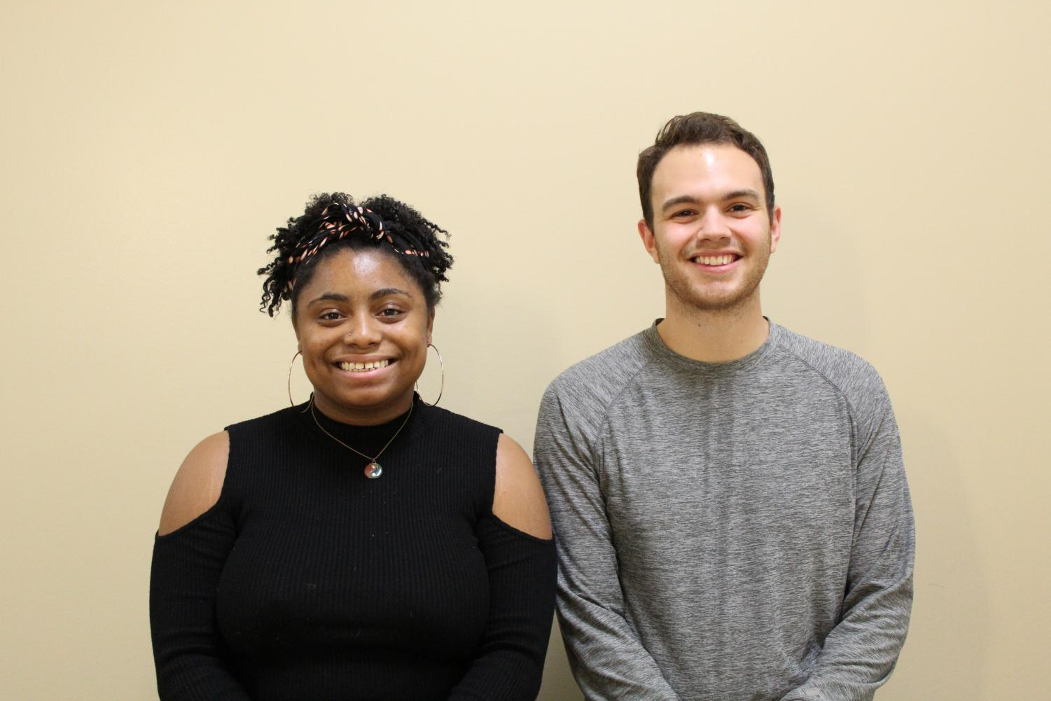 Camoya Evans, the Co-Chair of the Student Organization Committee (left) and Dylan Schock, the Chair (right).