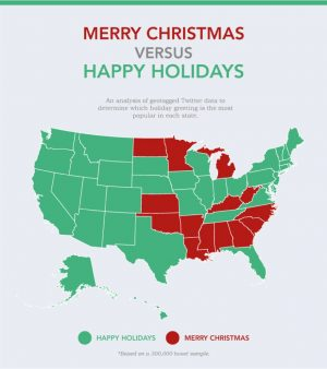"Explained: ""Happy Holidays"" compared to ""Merry Christmas"""