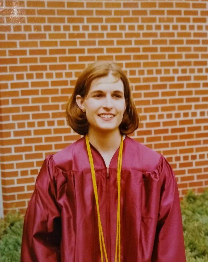 Melissa Spadanuda at her UWL graduation in 1997.