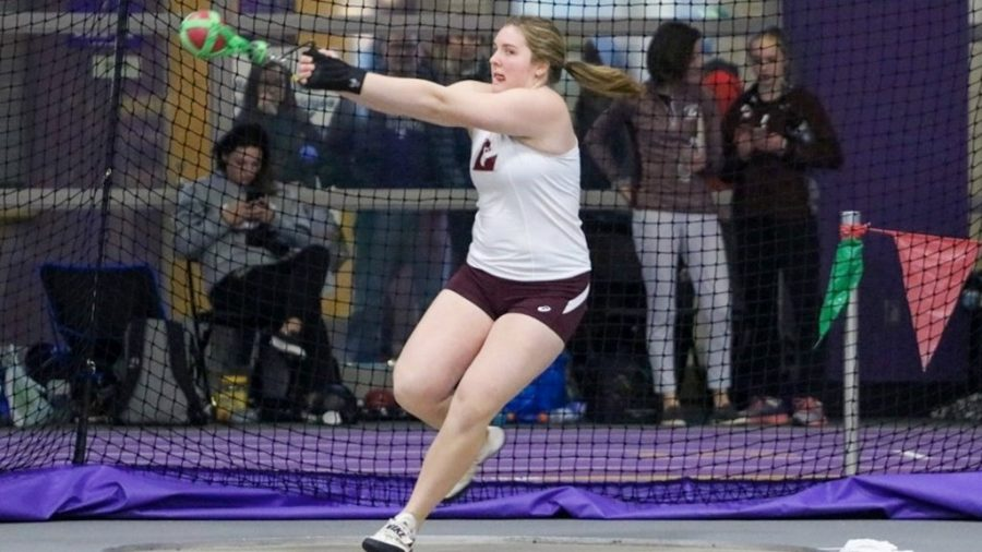 A UWL Women's Throwing Team Competitor