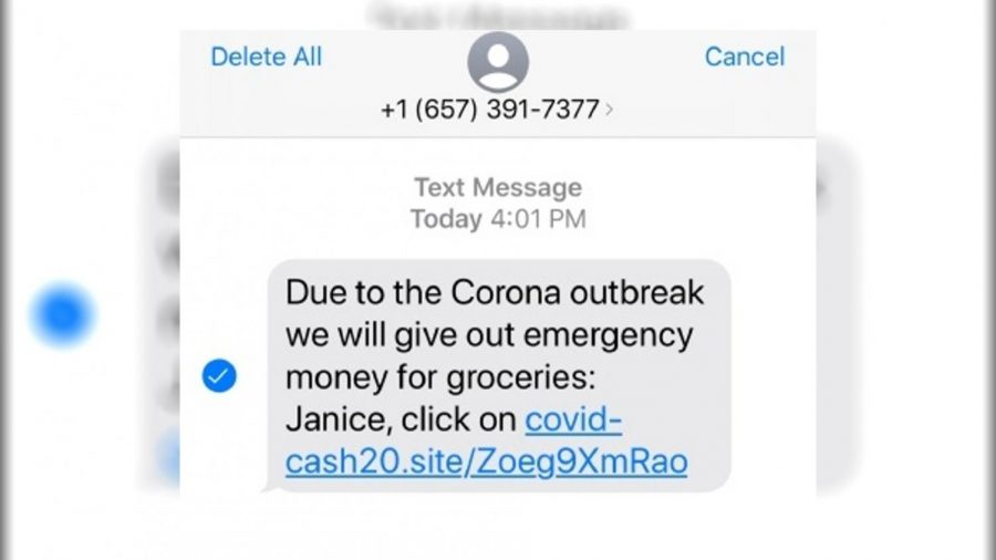 Example of COVID-19 scam. Photo retrieved from News12.