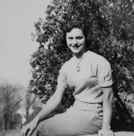 "Natalie ""Sally"" (Poltorak) Mesmer at UWL in 1950."
