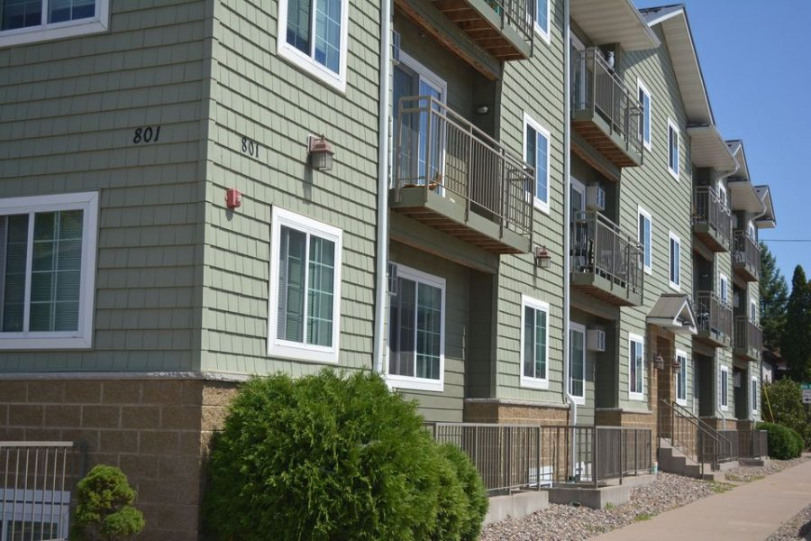 Image retrieved from UWL off-campus housing Facebook group, shows Biondo apartments on La Crosse Street.