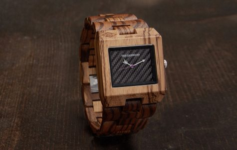 A watch from The Garwood, a one-of-a-kind wooded watch brand founded by Michael Garwood.