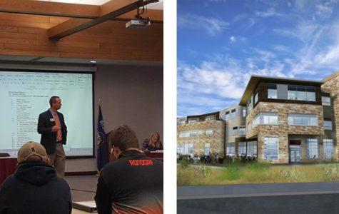 UWL Foundation President Greg Reichert, Development Officer Jay Scott talk Student Center Name