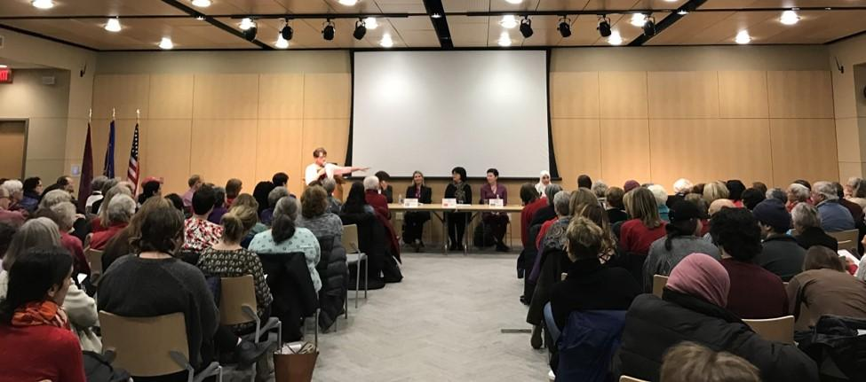 Panelists Address UW-L Community in the Hall of Nations
