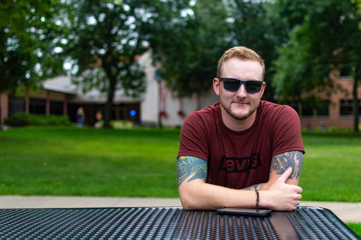 "Myles Isenberger ""I'm going to school for computer science and I'm excited because I've been out of school for a couple of years so its good to be back. I'm excited to see how it goes, the friends I can make and experiences I can have."" Photo by Carly Rundle-Borchert."