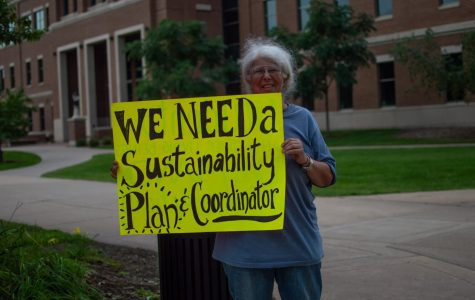 UWL students and community members protest for sustainability coordinator
