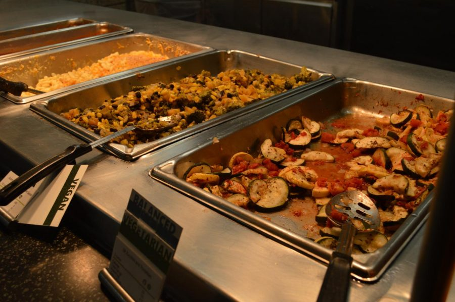 Whitney Dining Center meal options. Photo by Maija Sikora.