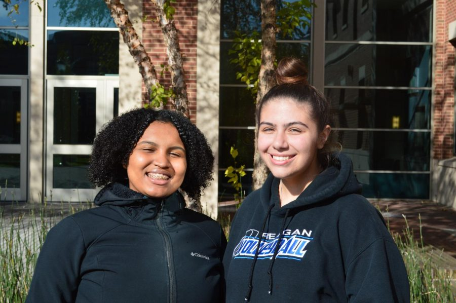 Co-Chairs of IOPA, Jaiya Edwards (left) and Mya Salinas (right), are the only first year students leading an MSO on campus.