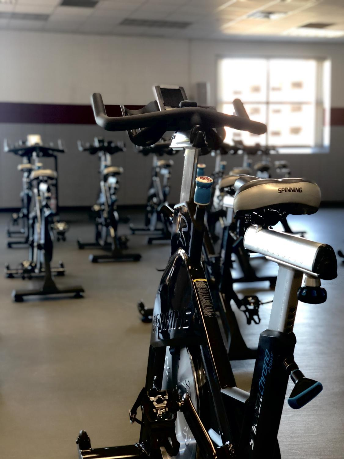Fitness room at the Recreational Eagle Center. Photo by Liv Swanson.