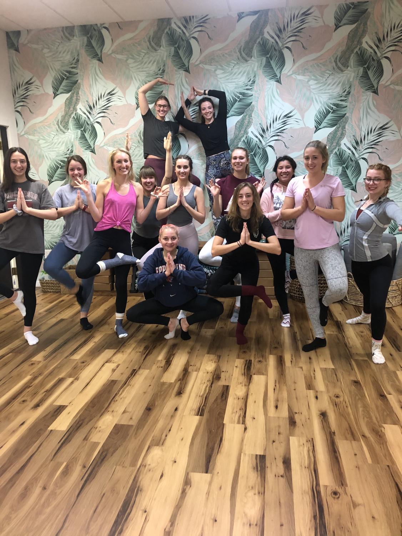 Yoga studio visit. Photo retrieved from Jillian Smith.