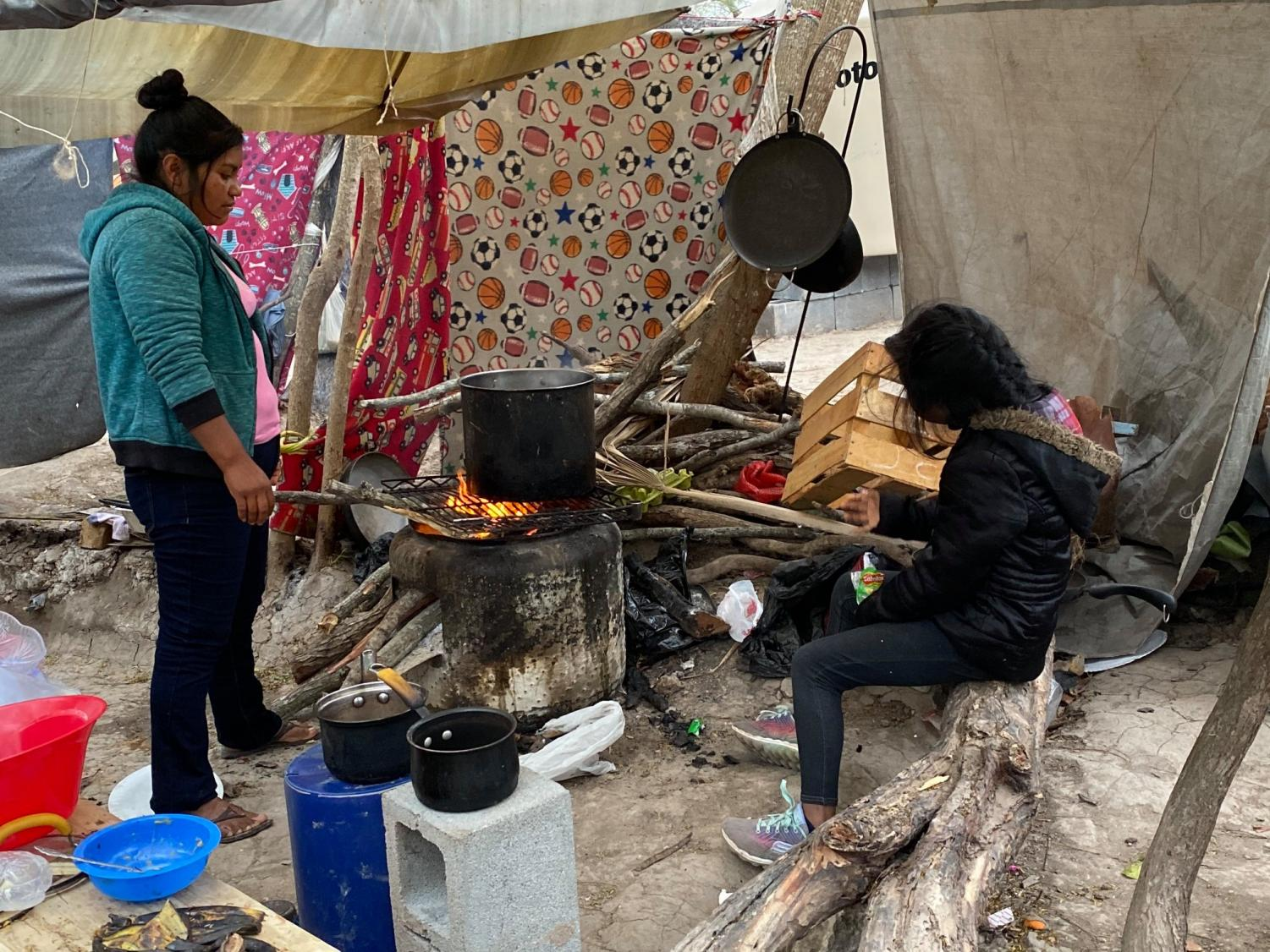 Photo from the encampment in Matamoros, Mexico. Photo by T.W. Collins.