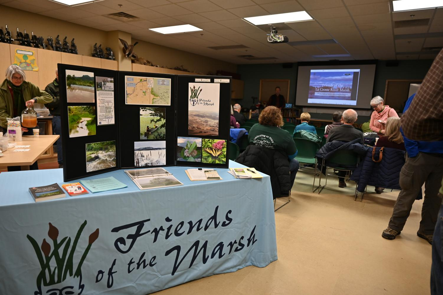 Friends of the La Crosse River Marsh meeting. Photo taken by Carly Rundle-Borchert.