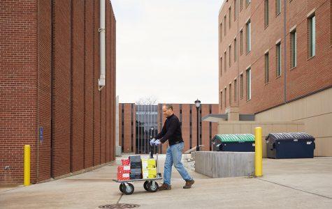 Scott Cooper, UWL director of Undergraduate Reserach, helped deliver supplies.