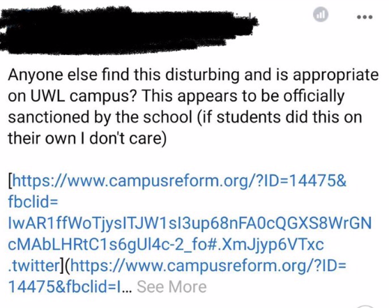 I am so disgusted and beyond disappointed : UWL parents react to sexual health week in a Facebook group