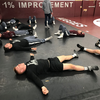 UWL wrestling team talks mindfulness