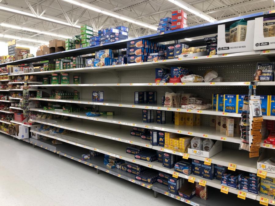 Pasta aisle at Walmart in La Crosse, WI.