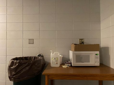 Microwave in Wentz Hall.
