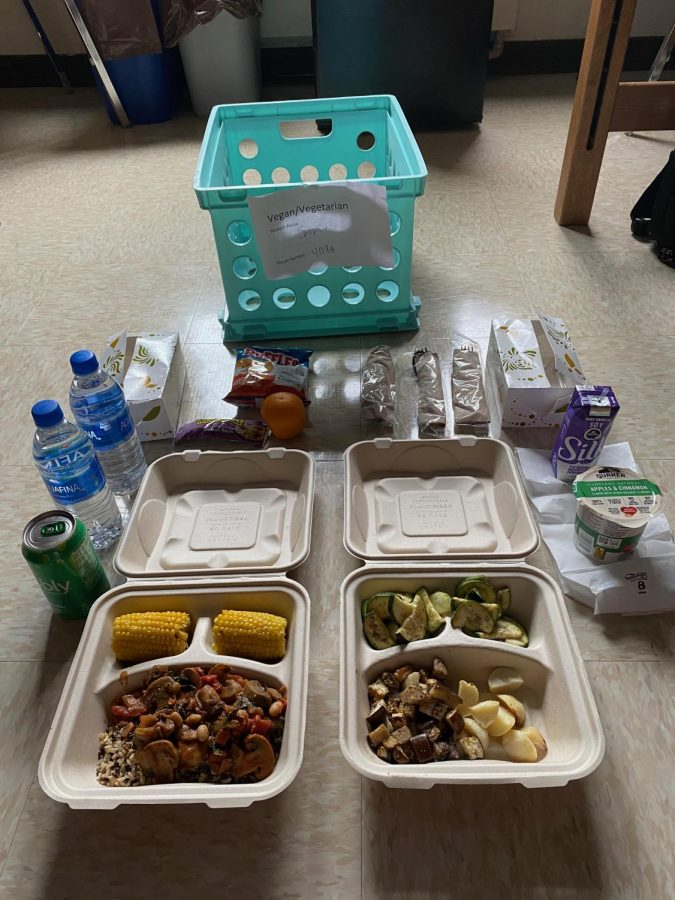 Meal delivered to Wentz Hall.