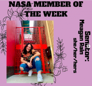 Meagan Rain on NASA's Member of the Week. Photo retrieved from NASA's Instagram page.