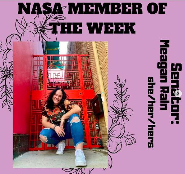 Meagan Rain on NASAs Member of the Week. Photo retrieved from NASAs Instagram page.