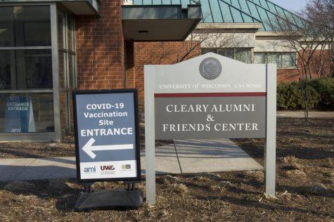 Cleary Alumni & Friends Center vaccine clinic.