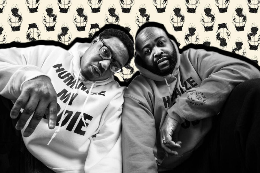 A photograph of Humanize My Hoodie founders Andre Wright and Jason Sole.